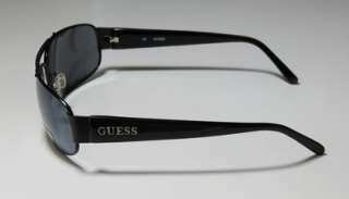 NEW GUESS 6464 BRAND NAME METAL BLACK ARMS MIRRORED GRAY LENSES