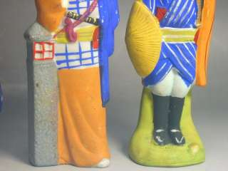 80 to 100 years old handpainted ceramic dolls are 14cm (5 1/2) to 15