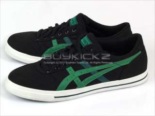 Aaron CV Black/Green Classic Canvas Low 2011 Mens H900N 9084