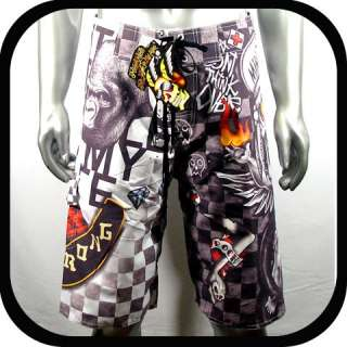 Minute Mirth Shorts Swim Board Tattoo K1 32 34 36 Graffiti bmx Rock
