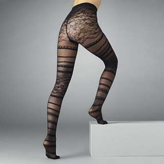 Geometric lace tights   JONATHAN ASTON   Sheer   Tights   Hosiery