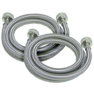 Watts 3/4 in. x 3/4 in. x 5 ft. Stainless Steel Washing Machine Hoses
