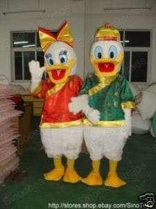 Donald Duck AND Daisy Duck CHINESE DRESS MASCOT COSTUME