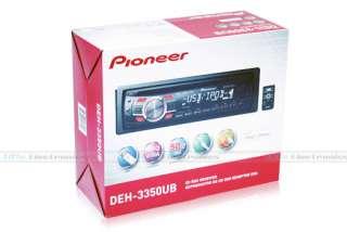 PIONEER DEH 3350UB CAR AUDIO CD USB iPOD iPHONE PLAYER