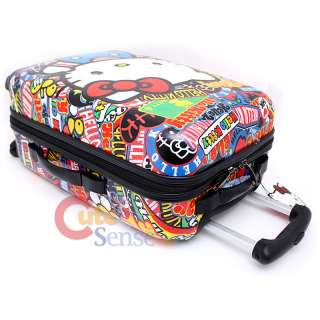 Hello Kitty Rolling Luggage 20 Hard Suit Case Sticker Prints