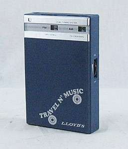 Vintage Lloyds Travel N Music Portable AM/FM Transistor Radio