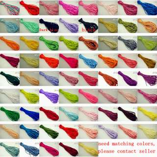 Nylon Rattail Chinese Knot Cord Beading Colorful 2mm NF