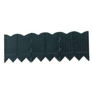 Recycled Plastic Poundable Landscape Lawn Edging with Connectors Black