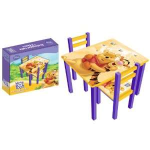 Disney Winnie Pooh Kindersitzgruppe Holz Kindertisch mit Stühle
