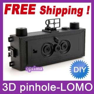 film 3 modes 3D three D Art Pinhole Stereo Wide LOMO Camera NEW