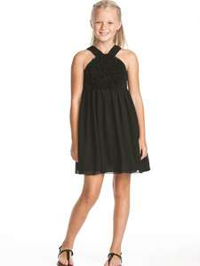 US Angels Blush Black Spring Party Dress Sizes 7 12