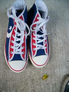 90s Converse All stars Red White & Blue High Top Sneakers Mens 9 1/2