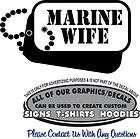 marine dog tag marine wife sticker decal 4 laptop auto car window