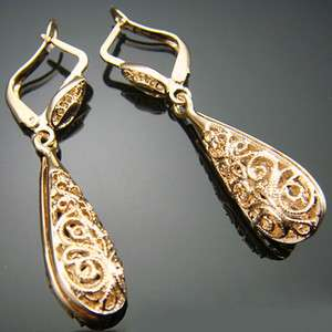 Noblest 18K rose gold plated Dangle Earrings 134