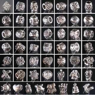 plated Lampwork Murano Glass European Beads Bracelets #PI50 2