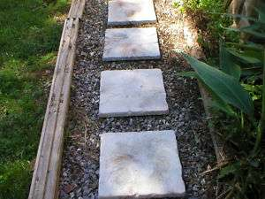FREE 18x18 CEMENT CASTLE STEPPINGSTONE PAVER MOLDS