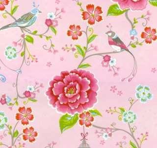PiP Studio Tapete BIRDS IN PARADISE pink hell 0,53 x 10 m Tapetenrolle