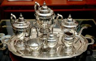 Sanborns Mexico Sterling Silver Samovar Tea & Coffee Set circa 1950