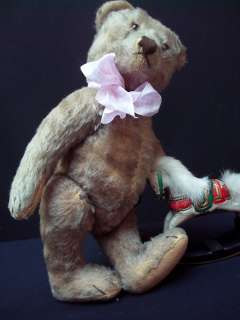 ANTIQUE STEIFF TEDDY BEAR 1940s HARD STUFFED MOHAIR 5 JOINTED