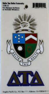 Delta Tau Delta Crest and Letters Stickers / Decal