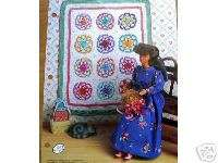 Crochet Fashion Doll Pattern OLD FASHIONED STAR QUILT