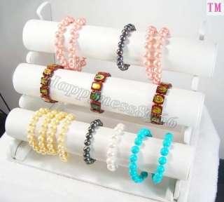 Leatherette Bracelet Jewelry Display Rack Holder d034