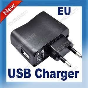 USB AC Power Supply Wall Adapter Cell Phones  Mp4 Charger EU Plug