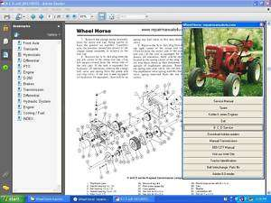 Wheel horse vintage tractor repair service manual