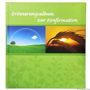 Fotoalbum Erinnerung zur Konfirmation 23x25cm Motiv gr?n 44 Seiten