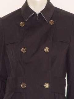NWT $525.00 DVF Diane von Furstenberg Size 6 Sienni Black Trench Coat