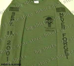 SOCOM Navy Seals Delta Force L/S T shirt 2X 3X OD GREEN