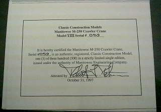 Crawler Crane by Classic Construction Models 1:48 Scale Brass