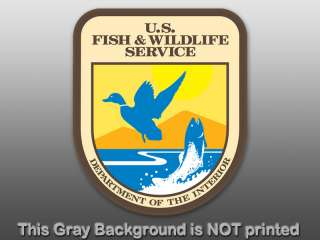 US Fish and Wildlife Shield Sticker  decal service dept