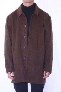 XXL NWT Toscano Chocolate Brown Wool Cashmere Blend Button Down