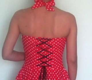 50er Jahre Tanz Kleid zum Petticoat Rockabilly Gr.S M L