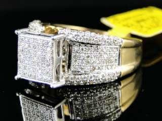 10K YELLOW GOLD DIAMOND ENGAGEMENT BRIDAL PAVE XL RING