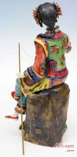 Art Oriental Chinese Ceramic / Porcelain Figurine Fishing Collection