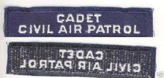 WWII VINTAGE CIVIL AIR PATROL CADET TAB PATCH