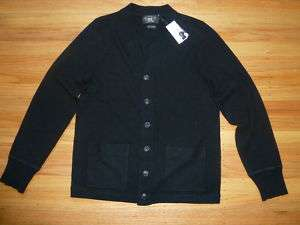 New Ralph Lauren RRL Black Cashmere Cardigan Sweater L