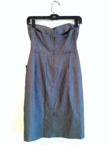 New w/Tags Banana Republic Size 0 Gray Strapless Dress
