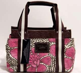 NEW ommy Hilfiger Floral Canvas Handbag oe Bag Purse |