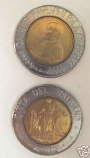 POPE JOHN PAUL II JESUS & FOLLOWERS VATICAN 90 COIN UNC