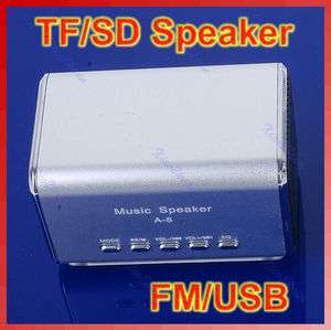 Portable FM Radio Speaker Music Player SD/TF Card For PC iPod  SL