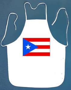 Puerto Rico Rican Flag BBQ Barbeque Apron 2 Pockets New