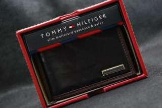 TOMMY HILFIGER MEN LEATHER SLIM BIFOLD PASSCASE WALLET