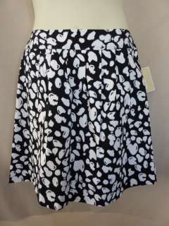 NWT Michael Kors Black White Abstract Dots Skirt 10 $90