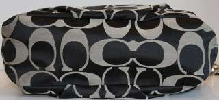 AUTHENTIC COACH BLACK/GREY/WHITE BROOKE BAG F16619