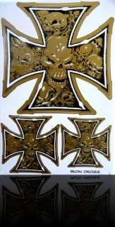 Iron Cross ★ Aufkleber Sticker Eisernes Kreuz Skull