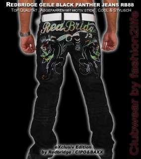 SCHARF  REDBRIDGE CIPO&BAXX BLACK PANTHER JEANS RB88