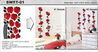 pcs Wall Stickers ★ 9 Petals of Rose Mural Art Vinyl Removable